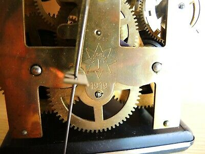 ANTIQUE German Wall Clock MOVEMENT JUNGHANS 1919 Gustav Becker GB PARTS Restore