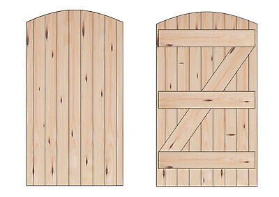 Arch Top Garden Gate Side Gate Pedestrian Bow Top Made to Measure Service