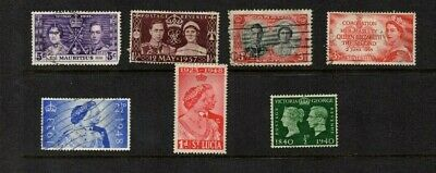 GB & Commonwealth Stamps Canada St Lucia Mauritius and GB 1937 to 1953.