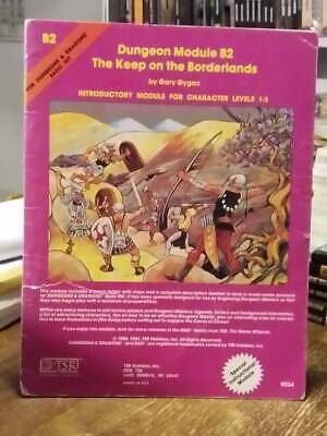 TSR D&D Dungeons & Dragons Module B2 The Keep on the Borderlands