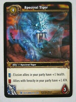World Of Warcraft Wow Tcg Spectral Tiger Nm Fires Of Outland 193 Non Loot Card