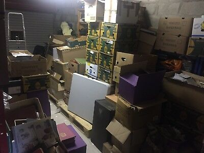 10 kilo box filled with part and whole stamp collections from multiple estates