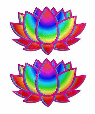 Pastease Acid Rainbow Lotus Velvet Pasties Cute Colorful Flower Nipple Covers