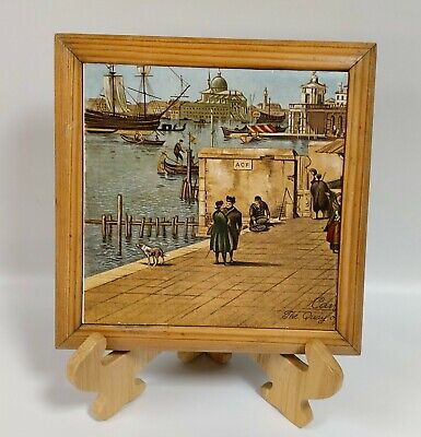 Canaletto - Ceramic Tile - Venice - H&R Johnson - Framed - Italian Art - Trivet