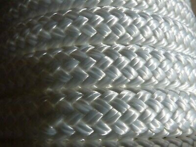 "5/8"" x 46 ft. Double Braid~Yacht Braid polyester Rope. White"