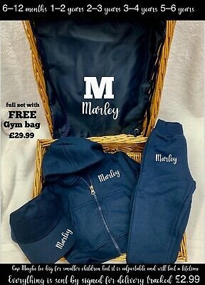 Personalised Tracksuit With FREE GYM BAG any name can be added