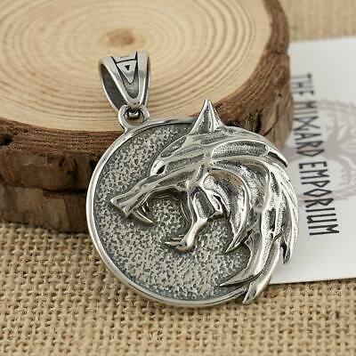 Witcher Wolf Medallion Stainless Steel Pendant Only