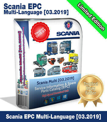 ✔️Newest 2019.03 Scania Multi EPC electronic parts catalog✔️Tried & Tested 100%