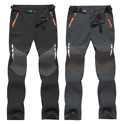 Mens Soft Shell Outdoor Trousers Camping Hiking Spots Waterproof Pants Fashion