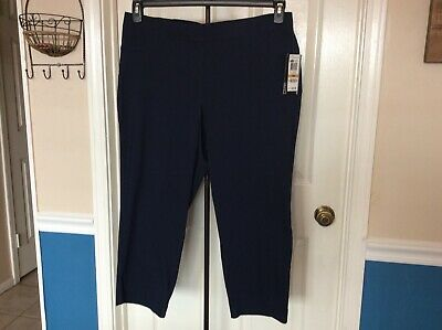 Style & Co. comfort waist pull on capri crop plus size 16W Industrial Blue NWT