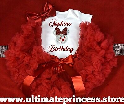 Mini mouse princess birthday outfit match any cake design Tutu Bodysuit Bow