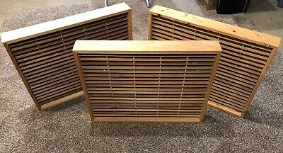 3 Napa Valley Cassette Cases 100 Capacity Each / Cassette Tape Storage Wall