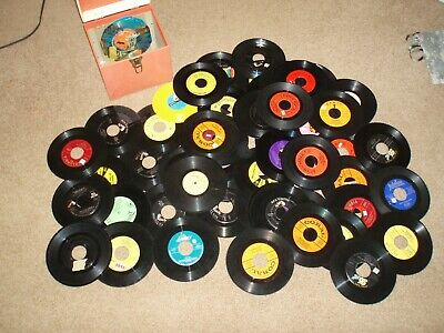 Lot Of 60 45 Vinyl Records from 1950s 1960s