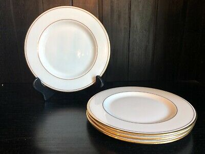 SET OF 4 Lenox FEDERAL GOLD Bread & Butter Plates China Classics Collection