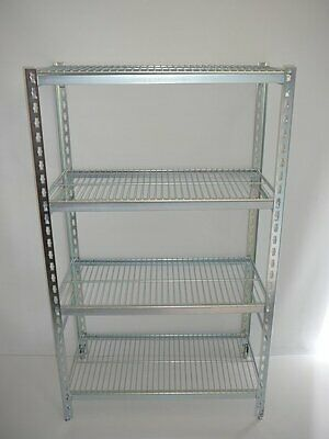 Coolroom Coldroom Shelving Zinc Plated Post Wire Shelves 1800H x 450W