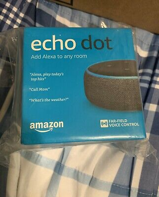 Amazon Echo Dot (3rd Gen) Smart Voice Control Assistant - Charcoal* IN HAND*