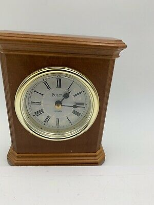 Bulova Wood  Mantle Clock In Good Working Condition