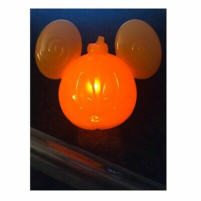 Disney Parks 2019 Mickey Mouse Halloween Pumpkin LightUp Straw Topper Disneyland