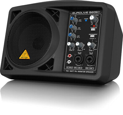 "Behringer B205D 5.25"" All-in-one PA Monitor speaker system"