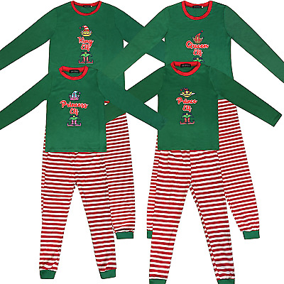 Family Matching Christmas Pyjamas Elf Pajamas Kids Boys Xmas Pjs Girls Nightwear
