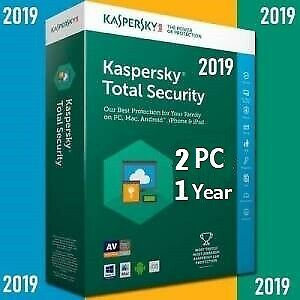 Kaspersky Total Security 2 Device | 2019 /360 +  Days | Download | Code Key Only