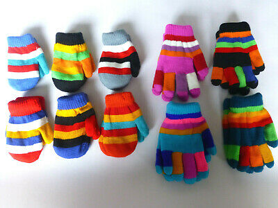 Children's Magic Gloves & Mittens with Lining Boys Girls Various Colours Unisex