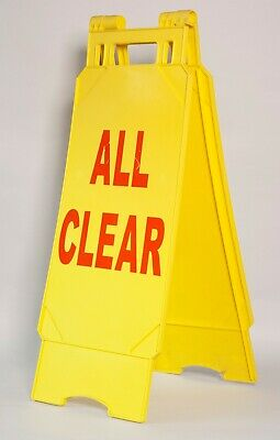 """""""All Clear"""" Sign 'A' Frame Caution Hazard Trip Double Sided"""