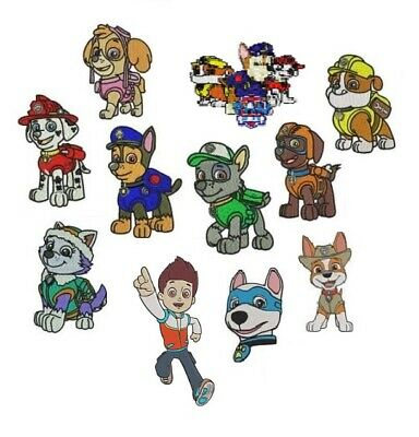New 11 Embroidery Designs Cd / Dvd Paw Patrol Characters Pes Jef Hus 1St Uk