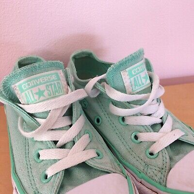 ✨ Girls Sparkly Mint Green Converse Size 12 🌈