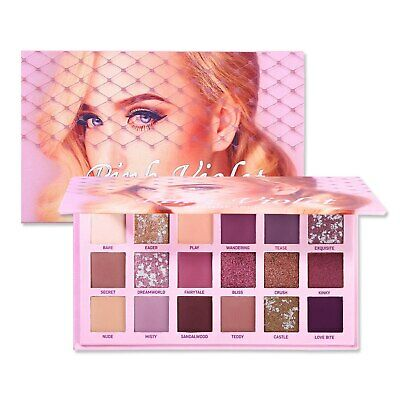 18 Colors Eye Shadow Palette Matte Shimmer Glitter Waterproof  Eyeshadow Makeup