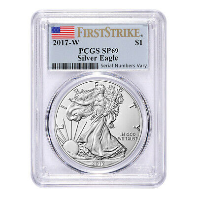 2017-W 1 oz Burnished Silver American Eagle PCGS SP 69 First Strike