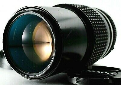 MINT++ Nikon Nikkor 200mm 1:4  AI mount, manual tele lens From Japan Front Cap