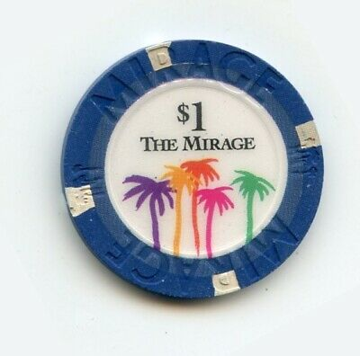 1.00 Chip from the Mirage Casino in Las Vegas Nevada Large Inlay