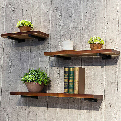 Wall Shelf Display Storage Rack Wood Board Floating Bookcase Holder Living Room