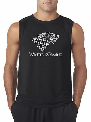 New Way 1217 - Men's Sleeveless Winter Is Coming Stark Sigil Game Of Thrones