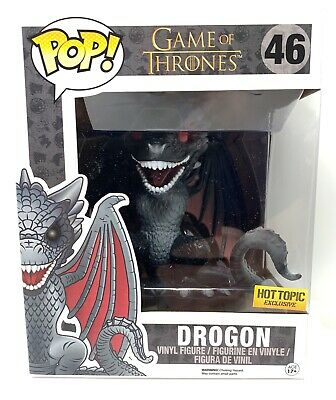 Funko Pop! Drogon 6 Inch Game of Thrones #46 Hot Topic Exclusive Red Eyes NM