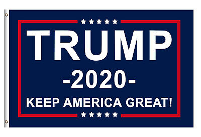 3x5 Ft Support Donald Trump for President 2020 Keep America Great with Gromments