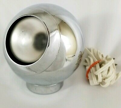 Vintage Chrome Eyeball Lamp Space Age George Nelson Mid-Century Atomic Eames