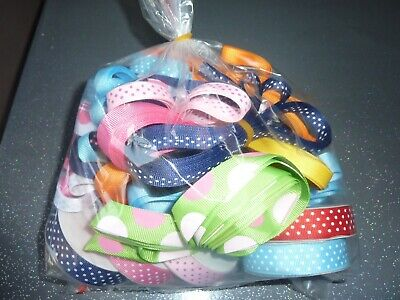 20m metre job lot of ribbon 1-10m lengths satin mesh crafts