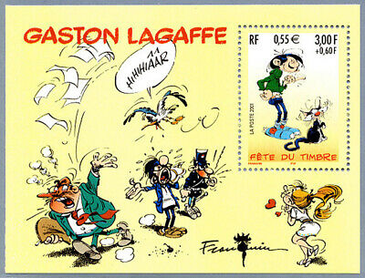 France 2001 BLOC timbre n° 34 - Bloc-feuillet Gaston Lagaffe - neuf