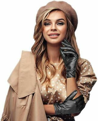 Leather Gloves Women Winter Gloves Touchscreen Ladies Real Leather Driving Glove