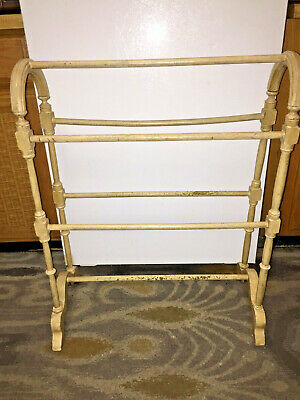 Antique Painted Mahogany Blanket/Quilt/Towel Rack Stand - Solid Wood
