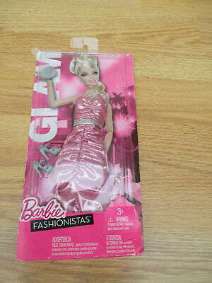 Barbie Fashionistas 2011 Glam Wave 1 pink sparkle dress T7481 new on card