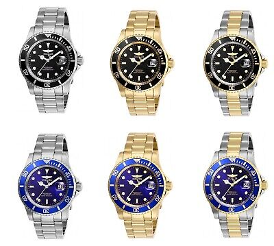 Invicta Men's Pro-Diver 40 MM Case All Stainless Steel Quartz Date 200 W/R Watch