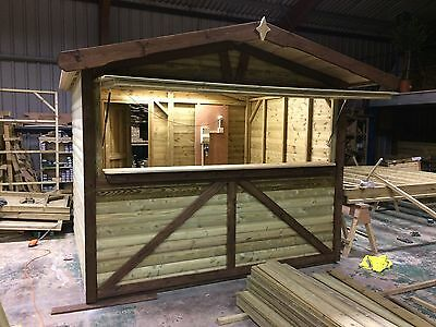 Xmas market chalet, Christmas market stall, Catering unit, Wooden market stall