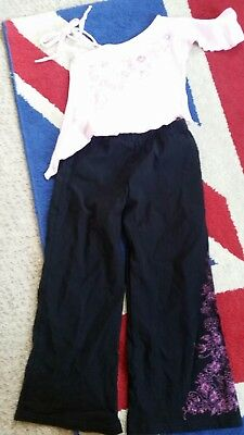 top and trousers set age 5 girls