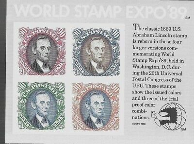 "U.s.a 1989 ""World Stamp Expo 89"" International Stamp Exhib Sg M/S 2417 Mnh."