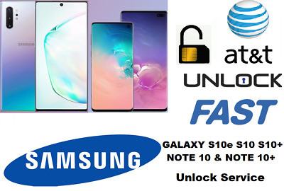 Instant AT&T CRICKET XFINITY SAMSUNG GALAXY S10 NOTE 10 Unlock Remote Service