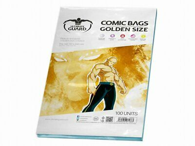 Ultimate Guard Comic Bags Golden Size Resealable Bags 100 Pack 197x268 mm New