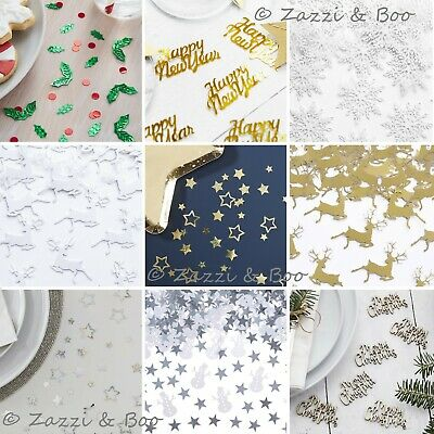 CHRISTMAS TABLE CONFETTI Foiled Sprinkles Scatter Nordic Merry Xmas Star Stag